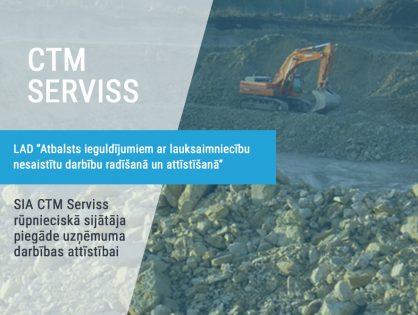 SIA CTM Serviss rūpnieciskā sijātāja piegāde uzņēmuma darbības attīstībai
