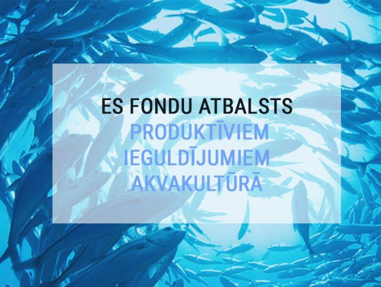 Atbalsts produktīviem ieguldījumiem akvakultūrā