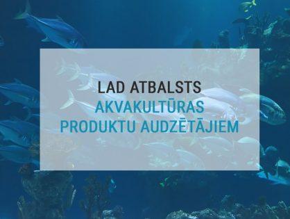 Pieejams atbalsts produktīviem ieguldījumiem akvakultūrā