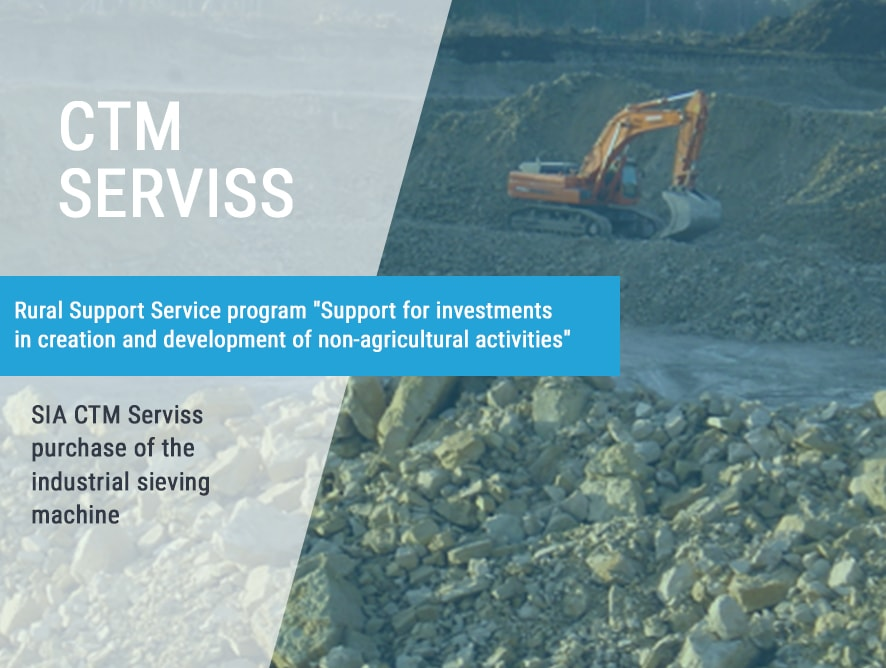 SIA CTM Serviss purchase of the industrial sieving machine