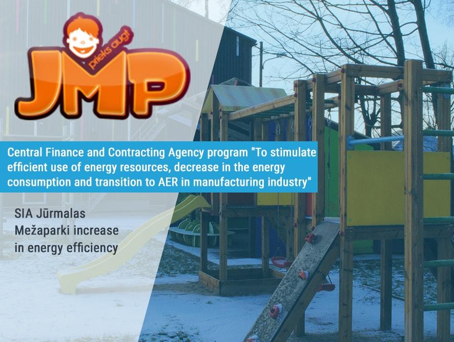 SIA Jūrmalas Mežaparki increase energy effiency
