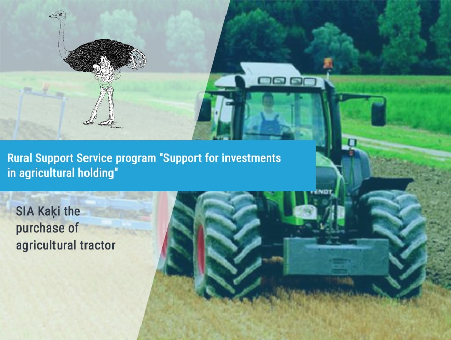SIA Kaķi purchase of agricultural tractor